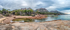 _D757694-Pano.jpg (David Hamments) Tags: honeymoonbay tasmania panorama freycinetnationalpark roadtrip eastcoast ngc flickrunitedaward