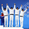 Ski de fond - Relais hommes (France Olympique) Tags: 2018 coree gaillardjeanmarc games jeux jeuxolympiques jo korea olympic olympicgames olympics olympiques podium pyeongchang south sport sud winter coréedusud
