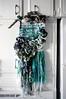 recycling fabric (chinooksky) Tags: weaving recycled fabric fiber sea beach hula girl tangle knotted braided shreds love wall art