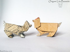 Origami Lita Bassets - Barth Dunkan. (Magic Fingaz) Tags: anjing barthdunkan chien chó dog gremlins hond hund köpek monster origami perro pies пас пес собака หมา 개 犬 狗