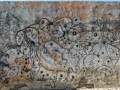 Graffiti art (Anita363) Tags: graffiti art arte wall mural fish turtle cat cats escheresque tiling albaycín granada andalucía andalusia spain españa whimsy whimsical humor albaicín