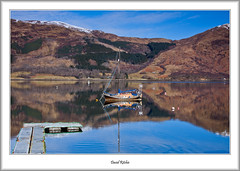 Yacht At Ballachulish (flatfoot471) Tags: 2016 boats glencoe highlandsislands landscape lochleven march normal rural scotland unitedkingdom winter gbr