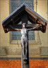Jesus crucified, St Paul's Church, Worcester (alanhitchcock49) Tags: st pauls church worcester woodbine willie first word war reverend geoffrey studdert kennedy 1883 to 1929 wooden carving crucifixion