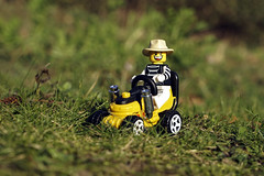 I Love My Job (Skyline:)) Tags: vehicle lego minifigure hat grass funny smile fun wheels