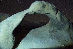 Mt Whitney under the Stars through Mobius Arch (todd.borowski) Tags: mobiusarch alabamahills mtwhitney nikon d750 stars astrophotography