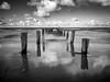 Sea Daughter (tosch_fotografie) Tags: ostsee fotopfad anleger steg wellen wasser schwarzweiss spiegelung langzeitbelichtung olympus omd em1 mecklenburgvorpommern fischland dars holz