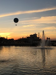 Disney Springs (pepsigirl917) Tags: florida colors hotairballoon balloon lakebuenavista orlando disney water sunset disneysprings