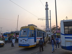 Kolkata 227 Shaheed Mimar (Guy Arab UF) Tags: west bengal transport corporation 227 modernised fibre glass bodied articulated tram shaheed mimar esplanade terminus kolkata india calcutta tramways tramway streetcar strassenbahn trams