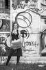 Charli Blake (Thomas Hawk) Tags: america bayarea california charli charliblake cossonhall logo sf sagehall sanfrancisco starburst treasureisland usa unitedstates unitedstatesofamerica westcoast abandoned bw decay graffiti fav10 fav25 fav50