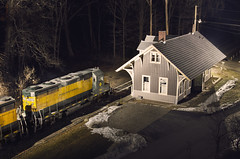 Cornwall Bridge (a409will) Tags: depot gp35 connecticut housatonic hrrc night trains newengland