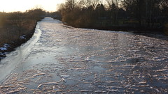 Winter an der Wümme, Deutschland (damestra) Tags: winter niedersachsen fluss å river lowersaxony wümme deutschland tyskland germany kalt cold wasser water vatten frost eis ice is