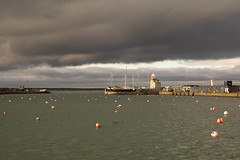 Howth. (LucaBertolotti) Tags: howth dublin dublino beach cloud clouds landscape cloudscape colors island irlanda ireland wild world sun shadows sky port boats sunset