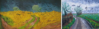 Wheat Field with Crows by Van Gogh 1890 and Anthony D. Padgett 2017