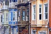 Old Colorful Houses (yonca60) Tags: arnavutkoy houses wood colorfulhouses istanbul turkey street streetlamps windows rhytm