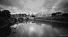 Tevere (AntonioAffinito) Tags: tevere roma romani acqua bianco nero bn bw case lazio