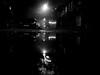 reflection (Darek Drapala) Tags: reflection reflects warsaw warszawa water waterscape night bw blackwhite blackandwhite black panasonic polska poland panasonicg5 street city urban europe silhouette silence silkypix