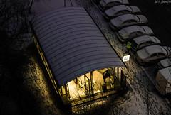 Shelter from winter (WT_fan06) Tags: bucharest bucuresti metro metrou underground subway tube romania nikon d3400 dslr cold light yellow darkness dark night photography artsy aesthetic january winter contrast snow snowy white ubahn