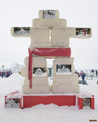 Sculptures de glace, Carnaval de Québec, Canada - 4743 (rivai56) Tags: sculturesdeglace carnavaldequébec canada glace sonyphotographing neige snow inuitsculpture quebeccarnival terrasse dufferin