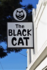 Detail of The Black Cat, Art Deco Design- In Explore 2/13/18 (Joey Z1) Tags: theblackcat artdecoinlosangeles artdecodesign blackcattavern closeuptheblackcatsignm laarchitecture artdecobuilding urbanscene laasseenbyjoeyz1 sola historictheblackcat historicallosangelesculturalmonument polychromatic pentaxks1 bylaphotolaureatejoeyzanotti