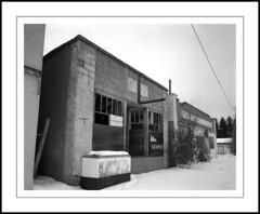 Center Street (rspohl17) Tags: abandoned stores delta100 ilfotecddx rodenstock ebony film blackandwhite largeformat hairyhill ghosttown forgotten