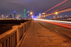 Welcome to Big D (Rajesh Jyothiswaran) Tags: big d city cityscape dallas cowboys mavericks stars downtown lenstagger light trails night omni hotel reunion skyline texas rangers the ball tower traffic