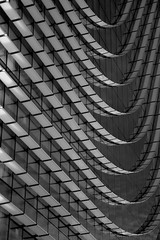 curvas y cristal (martineugenio) Tags: geometría líneas arquitectura lines bw monócromo monocromático edificio building abstract downtown city ciudad glass cristal azca madrid españa europa spain europ