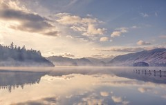 Perfect Day (Captain Nikon) Tags: derwentwater lakelandmist lakedistrict thelakedistrict thelakedistrictnationalpark cumbria northwest england uk greatbritain reflections misty mist atmosphere atmospheric moody mood morningglory autumn nikon landscapephotography landscapephotographer outdoorphotography outdoorphotographer catbells mountains woods