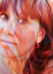 Par nature (nathaliedunaigre) Tags: selfportrait autoportrait femme woman doubleexposure superposition doubleexposition rouge red redhair redhead rousse rousseur ginger