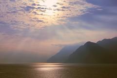 waiting for Buran on the lake (giobertaskin) Tags: canoneos canon sole prospettivaatmosferica prospettiva ombre luci lagodigarda lago malcesine