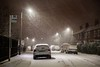 Beast On Rylands (Julian Barker) Tags: trent road beeston rylands beast from the east russian climate below zero sub arctic nottingham midlands uk england snow blizzard bus stop houses snowstorm night lights street winter march cold spring canon dslr 5d mkii julian barker