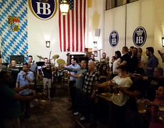 Stein-Holding Contest (uhhey) Tags: stein contest beer hofbrauhaus vegas