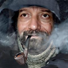 Smog romano (giovanniambrosioni) Tags: art ambrosioni zzmanipulation oeople portrait ritratto man uomo fumo pipa