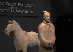 Terracotta Warriors, Liverpool 2018:Horse keeper and horse (keithb_b) Tags: olympus zuiko om 50mmf14 terracottawarriors liverpool