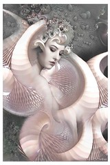 The Satin Lining of Shells (WayneToTheMax) Tags: beauty pink shell lining satin portrait woman lady deco nouveau pastel nikon d750