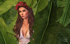 Foliage. (Kai Mannequin) Tags: stealthic beauty greenery leaves palm dust bunny studio exposure empire kotte flower crown makeup editorial fashion catwa maitreya