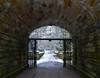 Under the bridge (Claire Louise Beyga) Tags: bridge under gate brick sandstone indoors outdoors snow day snowing cold winter march february snowflakes walk white blue ice outside park trees green fields croxtethhallcountrypark 270218 tuesday morning liverpool nikon dslr sigma lens photography photos digital camera parks west derby l12