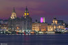Royal Liver, Cunard and Port of Liverpool Buildings at night (Bob Edwards Photography - Picture Liverpool) Tags: threegraces architecture royalliver cunardportofliverpool mdhc merseyside pierhead bobedwardsphotography liverbirds commercial walteraubreythomas royalassurance