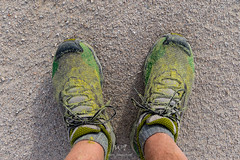 Pollinated Shoes (W9JIM) Tags: california unitedstates w9jim feet shoes panamintdunes dvnp deathvalley pollinated 7d2 1635l 35mm lasportivawildcats