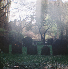 Trinity Church Cemetery, NYC, USA (krishna.naudin) Tags: lomography minidiana cimetiere