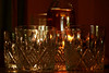 Crystal Clear (Andrew Gustar) Tags: lead crystal tumblers candle candlelight whisky bottle glass