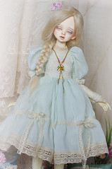 Mint Symphony (AyuAna) Tags: bjd ball jointed doll dollfie ayuana design minidesign handmade ooak clothing clothes dress set outfit fashion couture lolita style romantic slim msd mnf minifee fairyland size dim benetia hybrid dolllegend body sewing sewingfordolls