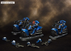 Ultramarines Bikers (whitemetalgames.com) Tags: first company primaris ultramarines ultra marines space adeptus astartes scouts reivers inceptors bikers leviathan dread house griffin knight battle brothers sargeant veteran vet srgnt lt commander warhammer40k warhammer 40k warhammer40000 40000 paintingwarhammer gamesworkshop games workshop citadel whitemetalgames wmg white metal painting painted paint commission commissions service services svc raleigh knightdale dale northcarolina north carolina nc hobby hobbyist hobbies mini miniature minis miniatures tabletop rpg roleplayinggame rng warmongers