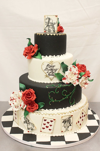 Queen of Hearts Alice In Wonderland Cake