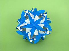 Clematis (masha_losk) Tags: kusudama кусудама origamiwork origamiart foliage origami paper paperfolding modularorigami unitorigami модульноеоригами оригами бумага folded symmetry design handmade art