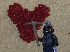 The Terror That Struck Valentine Bluffs (splinky9000) Tags: lego my bloody valentine horror movie harry warden 1981 recreation reenactment diorama minifigures toys heart blood