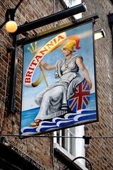 Pub sign for the Britannia, Richmond. (Peter Anthony Gorman) Tags: pubsigns richmondpubs britannia