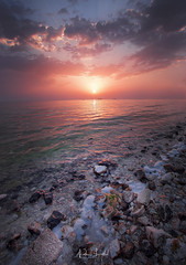 Ocean View (Nabeel Iqbal) Tags: ocean view watar sea sunrise clouds sun rays rocks waves tides colors seascape canon 6d camera qatar souq waqif doha al wakrah wakra middle east this is thisisqatar photography 1740mm