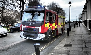 East Sussex Fire & Rescue Service Volvo Fire Appliance.