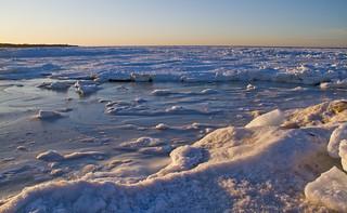 Frozen Textures at Sunset