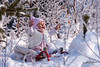 Ice Princess (Petar Milev) Tags: babe princess ice queen winter white pink sunset happy joy smile frozen freeze tree pine hands up little mountain january december green last sun love heart baby hat sled cover